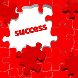 Success concept with puzzle Royalty Free Stock Photos