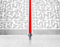 Success concept with red path Royalty Free Stock Image
