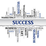 Success concept related words in tag cloud. Vector Royalty Free Stock Images