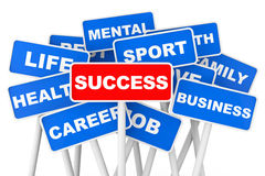 Success concept. Success banner sign Royalty Free Stock Image