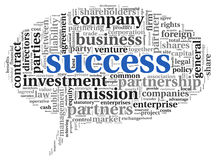 Success concept in tag cloud Royalty Free Stock Image