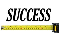 Success Concept with Tape Measure royalty free stock photography