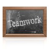 Success concept with teamwork on blackboard Stock Image