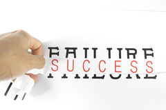 Success. The concept of tearing failure royalty free stock photos