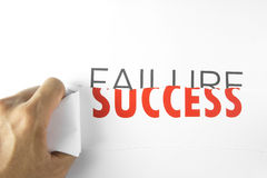 Success. The concept of tearing failure stock images