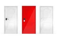 Success Concept. Three Doors Stock Photo