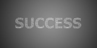 Success concept word. On gray background Stock Image