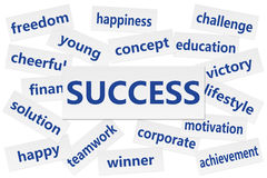Success concept. Words. isolated on white background royalty free stock photos
