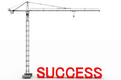 Success and Crane Royalty Free Stock Images