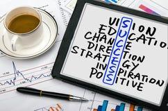 Success crossword concept Stock Photography