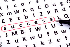 Success crossword puzzle Stock Photo
