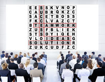 Success Crossword Puzzle Words Achiement Game Concept Royalty Free Stock Images