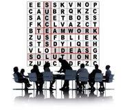 Success Crossword Puzzle Words Achievement Game Concept Stock Photo