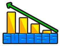 Success curve Royalty Free Stock Photos
