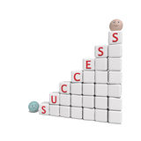 Success - 3d abstract composition Stock Images