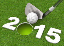 Success in 2015. 3d generated picture of a success 2015 concept Royalty Free Stock Images