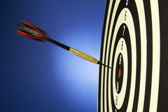 Success on a dart game Stock Photo