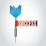 Success dart sign illustration design Royalty Free Stock Images