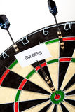 Success on dartboard Stock Photography