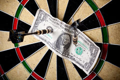 Success on dartboard Royalty Free Stock Photography