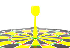 Success: dartboard and darts in bulls-eye Royalty Free Stock Photos