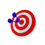 Success darts. At the center of target Royalty Free Stock Images