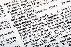 Success Definition Stock Photo