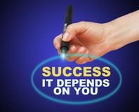 Success, it depends on you Royalty Free Stock Photography
