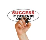 Success, it depends on you Royalty Free Stock Photos