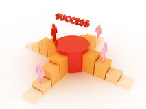 Success design. A woman competition to have success in business Vector Illustration
