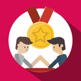 Success design. Winner icon. Flat illustration. Success concept with icon design,  illustration 10 eps graphic Royalty Free Stock Image