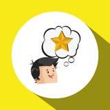 Success design. Winner icon. Flat illustration,  graphic Stock Images