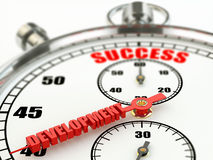 Success and development concept. Stopwatch. Stock Photo