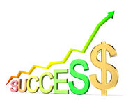 Success diagram Stock Images