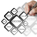 Success diagram Stock Photography