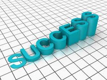 Success diagram on a grid Royalty Free Stock Image