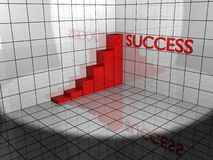 Success diagram on raster 3d Royalty Free Stock Photo