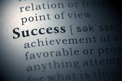Success. Dictionary definition of the word success Stock Photo
