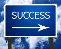 Success Direction Road Street Sign And The Sky Stock Images