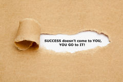Success Does not Come to You U Go Royalty Free Stock Image