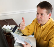 Success at doing Income Taxes Royalty Free Stock Image