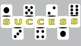 Success Domino One by One Royalty Free Stock Photo
