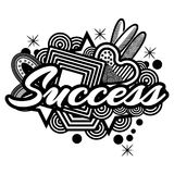 Success doodles. Vector Illustration on white background. EPS file available. see more images related Royalty Free Stock Image