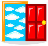 Success door Royalty Free Stock Photos
