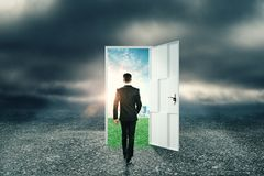 Success and doorway concept royalty free stock images
