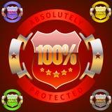 Success emblem. Extra detailed emblem of 100 percent success Stock Photo