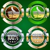 Success emblem. Extra detailed emblem of 100 percent success Stock Photos