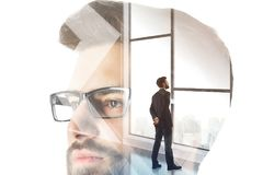 Success, employment and think concept stock photo