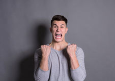 Success, excited man with happy facial expression Stock Images