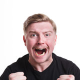 Success, excited man with happy facial expression Stock Photos